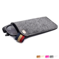 2017 best custom sunglasses bag in felt material from Guangzhou alibaba china