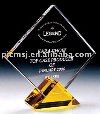 crystal plaque trophy 2015 newest