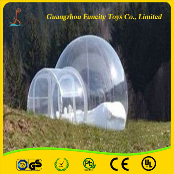 2015 Newest PVC and PVC tarpaulin inflatable bubble tent, outdoor camping bubble tent, beautiful inflatable lawn tent for sales