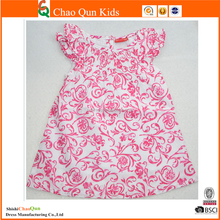 Hot sale New model print flowers girls' dress