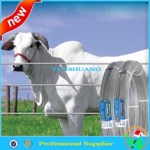 high carbon steel hot dipped galvanized oval wire cattle farm fence High tensile fence wire
