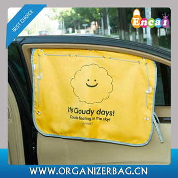 Encai Cute Cartoon Style Car Window Sunshade Curtain