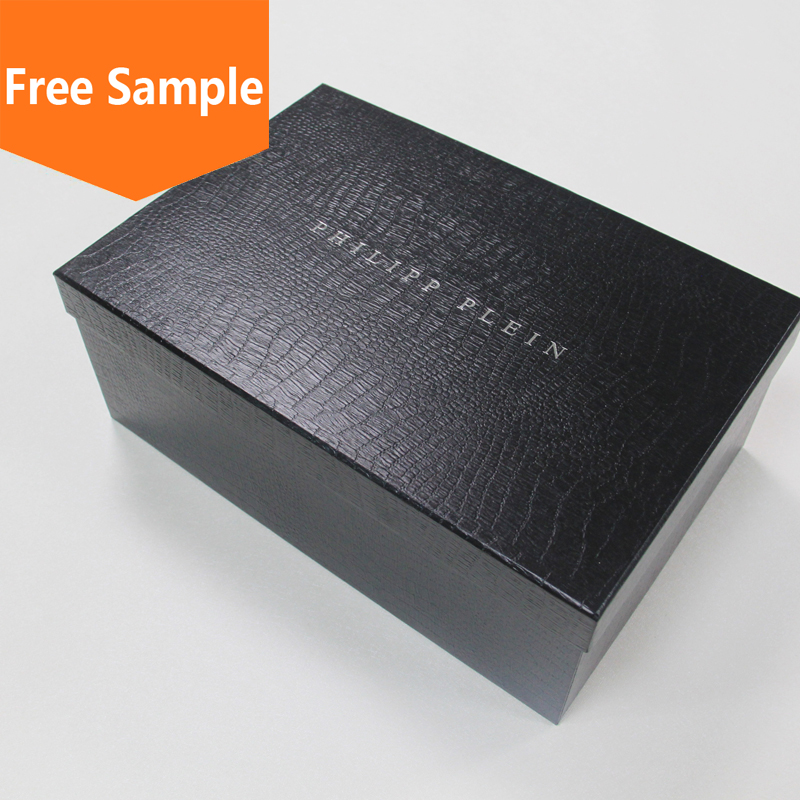 Custom logo cardboard paper shoe packaging box wholesale