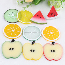 Simulation sliced apple orange lemon lime kiwi Fake fruit slice for party decoration