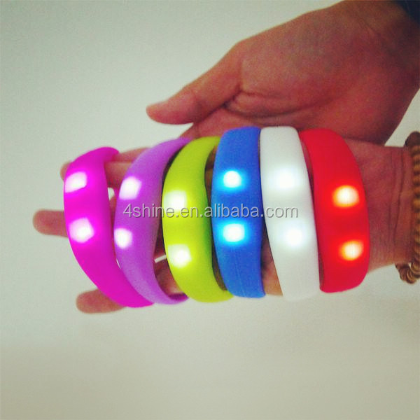 led bracelet remote control LED bangle bracelet novelties concert themes,