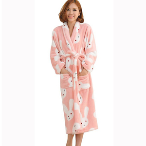 100% polyester turkish bathrobe set women