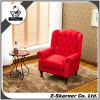 E-Skarner high sale customized pattern fabric material wedding chair sofa