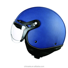 ECE certificate leather cover ABS material crash helmets