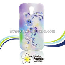 FL222 2013 Guangzhou factory fashion colorful Luxury water transfer diamond crystal case for samsung galaxy s4 i9500