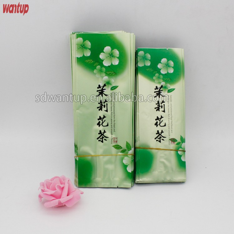 Three side sealed teabags aluminum foil wholesale tea packaging