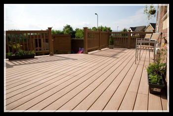 Durable Water Proof Outdoor Wood Plastic Composite Deck/WPC Flooring Passed CE