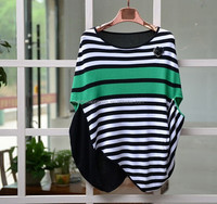 High quality fashion knitwear sweater top Special stripe design jumper