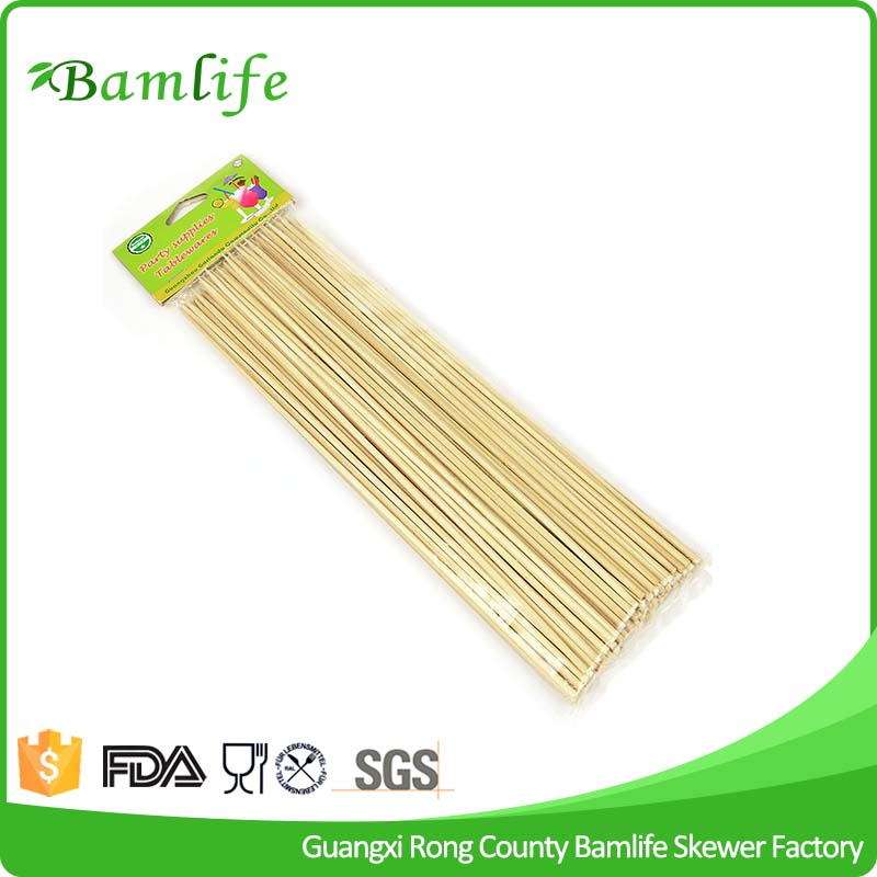 Small BBQ Dried Natural Round Bamboo Sticks