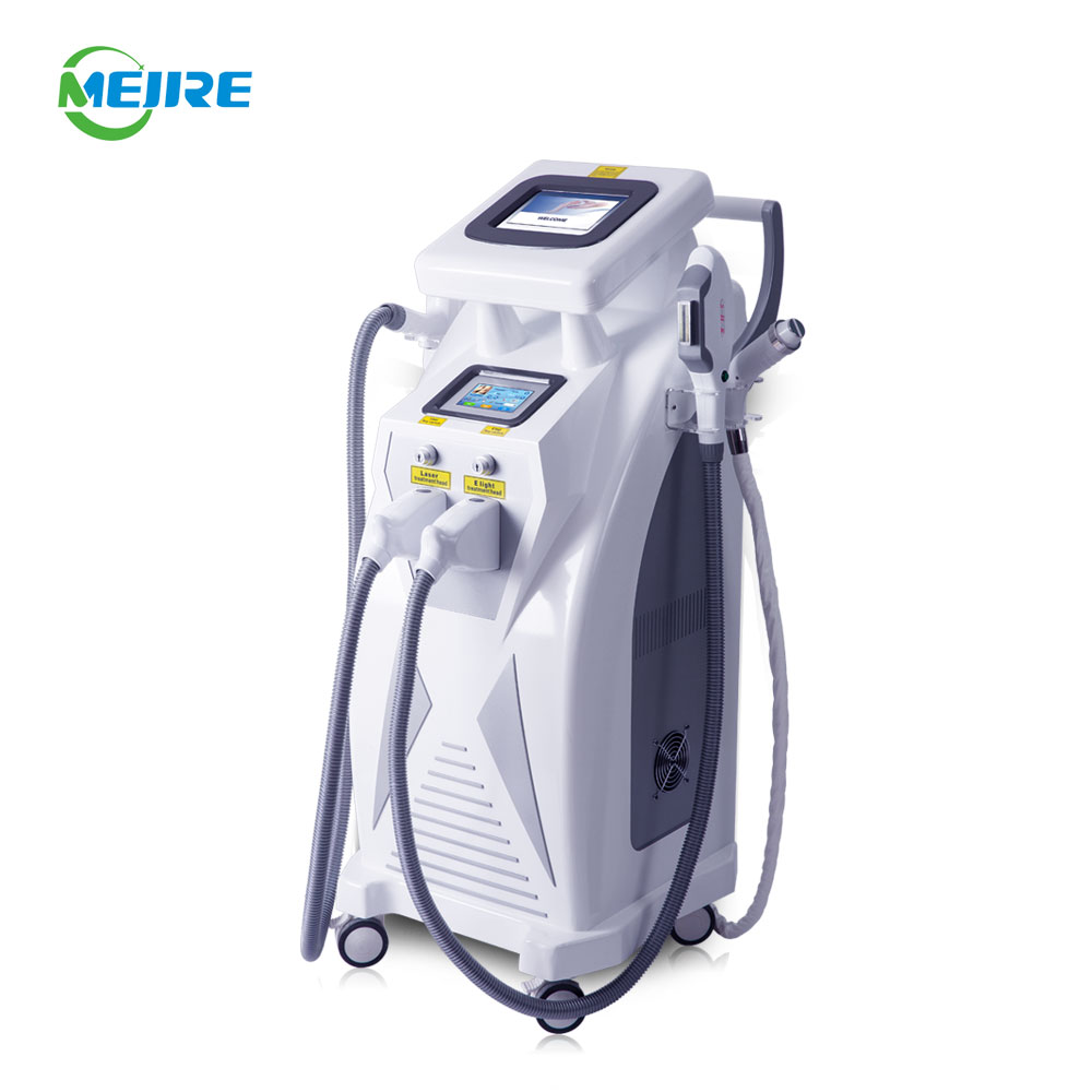 Hot Selling Manufacturer Multifunctional Machine for <strong>Beauty</strong> OPT E Light IPL RF Nd Yag Laser 4 in 1