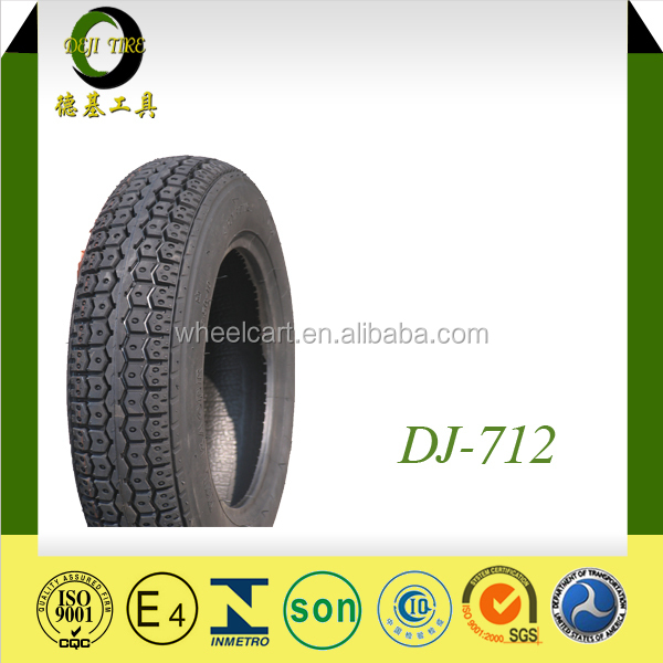 TUBELESS REAR TIRE HIGH QUALITY 3.50-10 DJ-712 INDIA TREAD CHEAPER PRICE Made In China Motorcycle Tire