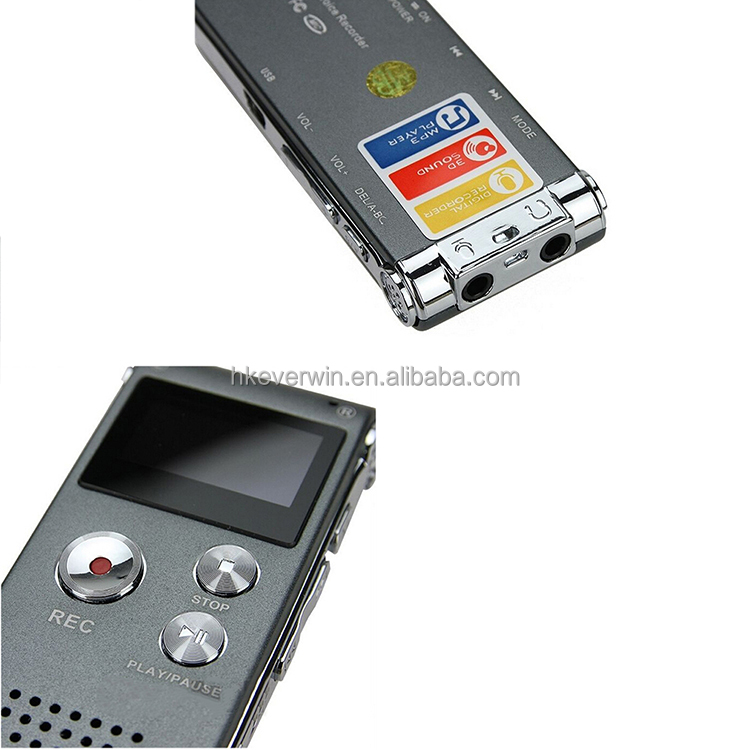 Cheap ultra thin multilingual digital voice recorder 8GB 1536kbps