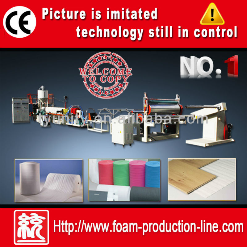 Factory Direct Sales PE foaming sheet extruder