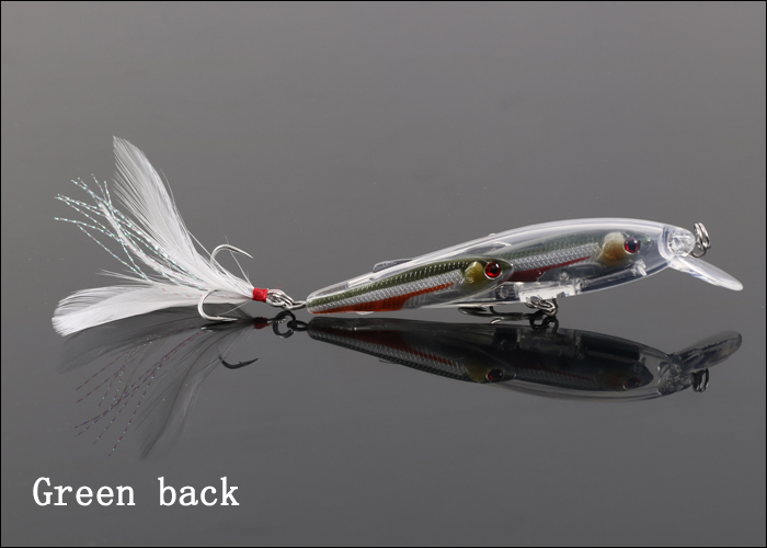 Weihai ILURE 2015 Fishing Lures 3 Fishes Body Minnow New Product
