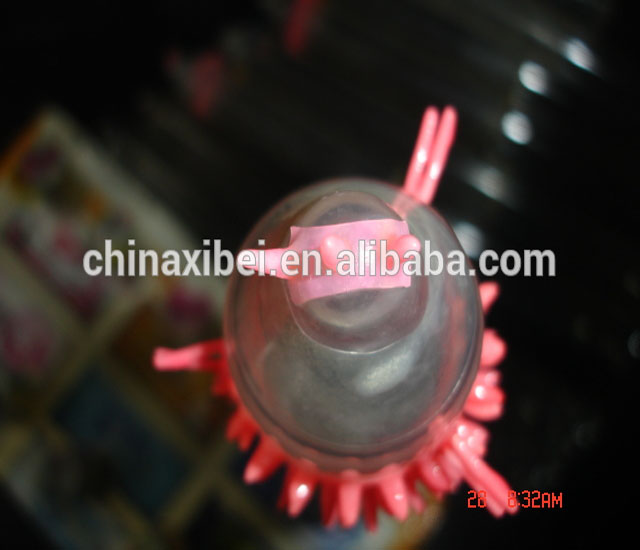 Hottest natural latex male spike condom with different types OEM factory