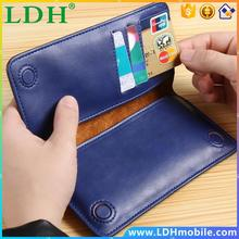 5.5 General Luxury Genuine Leather Flip Mini Purse Pouch Handwork Wallet Phone Case For iPhone 6S Plus For Meizu MX4 MX3 MX2 S6