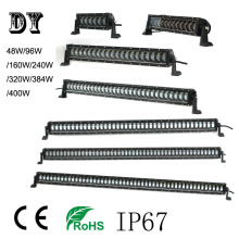 waterproof and dust proof 12 volt led light bar 4x4 48w 96W160W 240W320W 384W 400W crees led driving light for trucks,auto parts