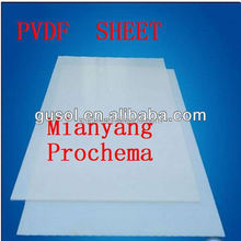 for paper making device glass firber backed white pvdf sheet 100% virgin raw material