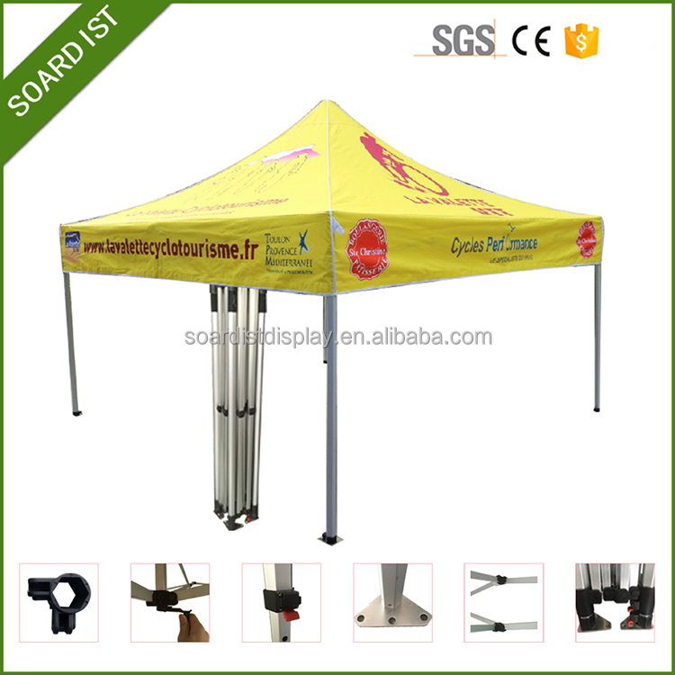 Factory hex aluminum frame quick folding exhibition tent gazebo tent 3x3
