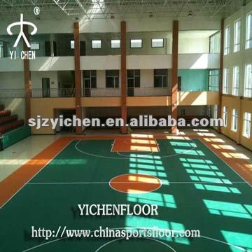 PVC Plastic Indoor Basketball Flooring