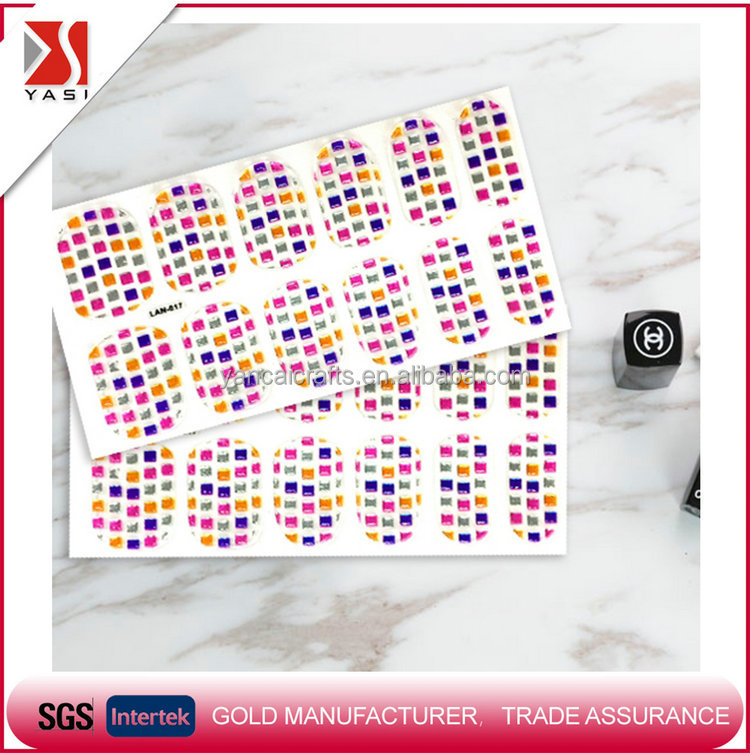 Direct factory price beautiful 3d design eco-friendly toe nail art sticker