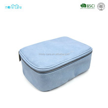 suede makeup bag cosmetic bag eco leather