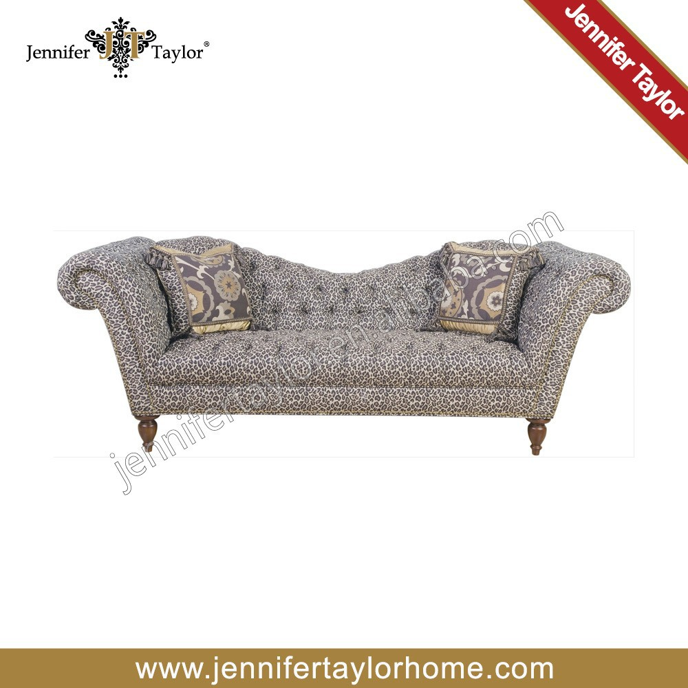 Home furniture general use and living room tufted fabric covered sofa