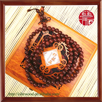 6mm 108 Beads Souvenir and Gift Items Male and Female Red Sandalwood Beaded Bracelet Wooden
