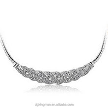 Kingman 2014 newly design trendy crystal necklace