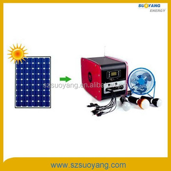 DC/AC 50W Small Solar Portable Generator For Lighting & Fan System