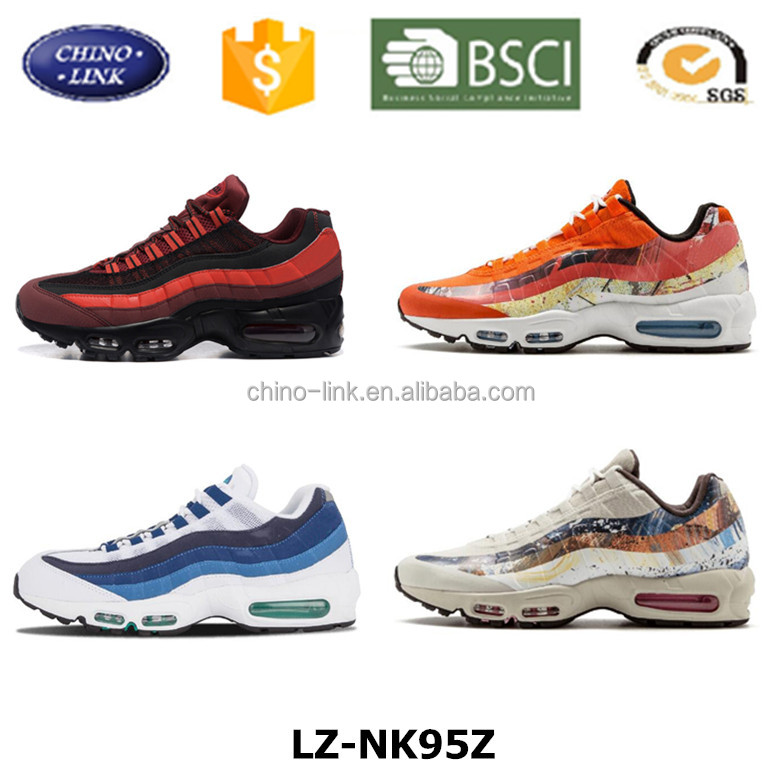 Wholesale brand OEM Supreme Quality model running shoe, Air 95 sole running air sport shoes, men and women running shoe