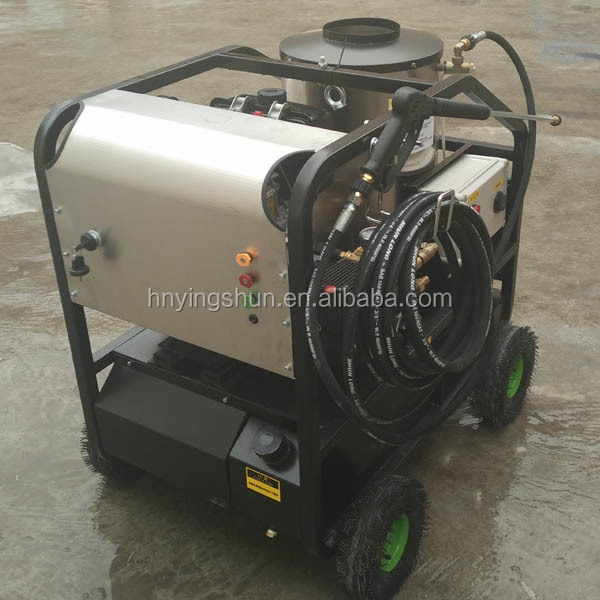 CE new mobile diesel 30 bar steam , 200 bar hot water, 50 bar industrial steam car wash machine price for sale