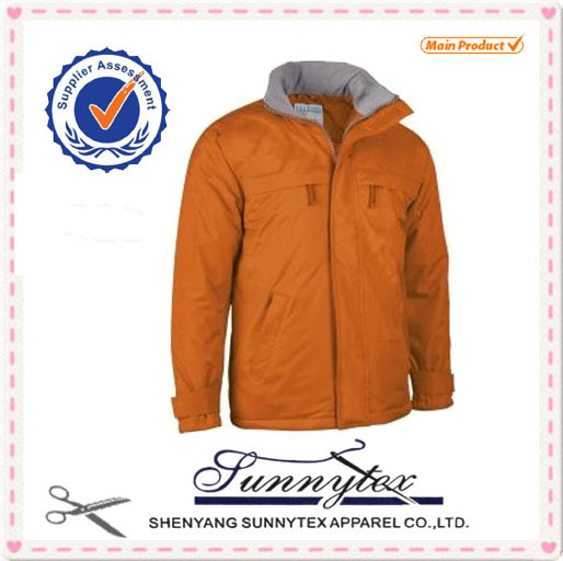 SUNNYTEX OEM 2015 winter costume outdoor waterproof quilted jackets for men