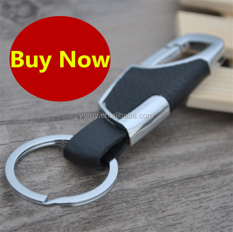 Leather Keychain Luxury Car Key Chain Men llaveros Rings Gift Key Chains for Keys Black and Silver Ring