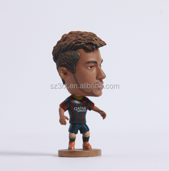 wholesale cristiano ronaldo scale action figure/custom make football player figurines/Factory price soccer plastic action figure
