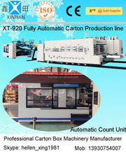 carton box flexo printer slotter machine/folder gluer package line