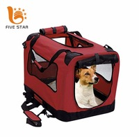 Five Star Logo Brand Customized Waterproof 600D Oxford Portable Foldable Pet Puppy Cat Dog Crate