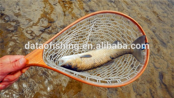 Hot sale fish net landing nets with wooden handle view for Fishing net for sale