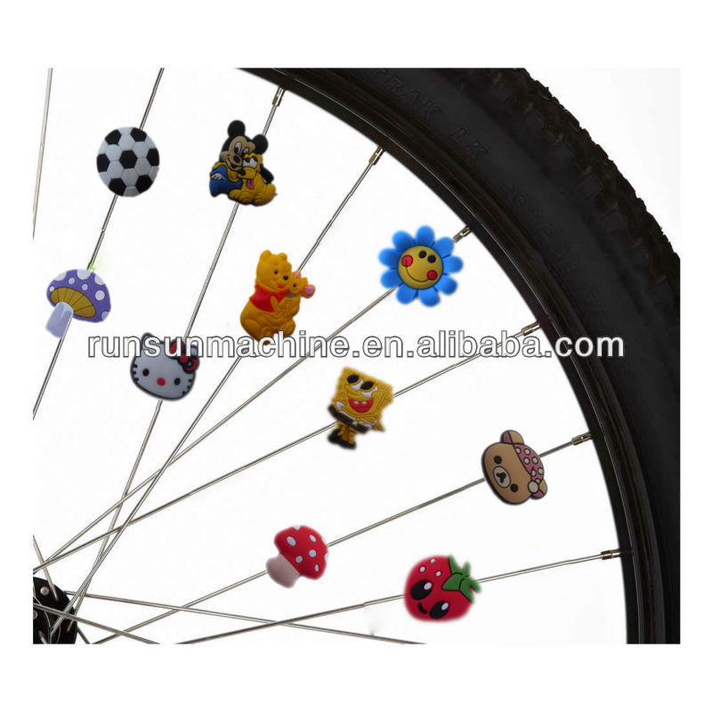bicycle accessories/ plastic spoke beads for kids bike/ promotion gift for kids