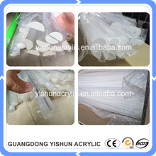 guangzhou factory supply clear half round plexiglass acrylic dome shaped semi-circular rod/bar