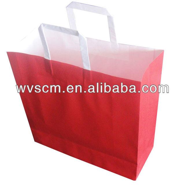 2014 fashion sales promotion falt handle foldable shopping bag