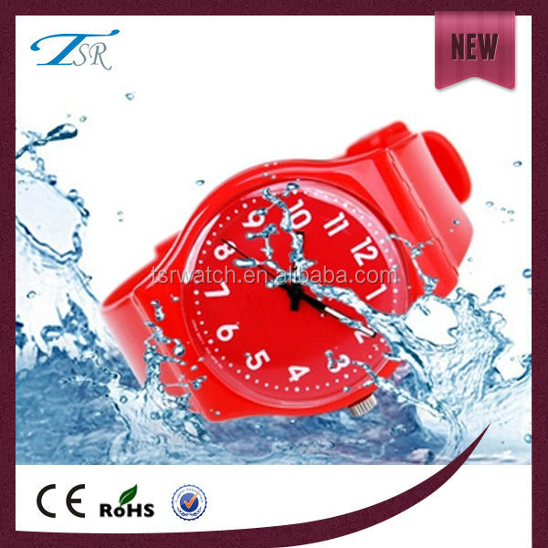 high quality waterproof custom logo plastic watches for men or women with candy colors