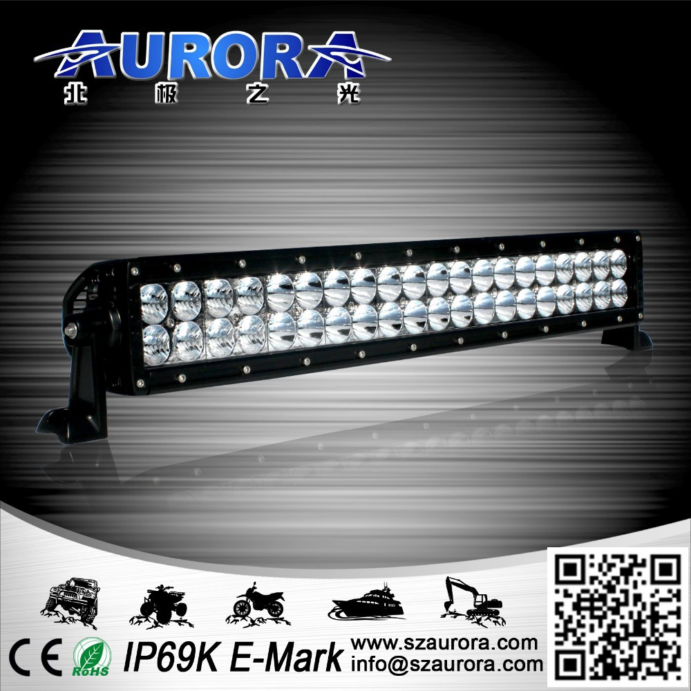 IP68 waterproof AURORA 20inch double row 200w led light 2 inch 12v off road