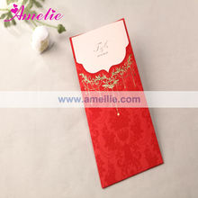 ACW1002 Red Color With Envelope Pack Tamil Wedding Cards Design