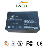 high quality full capacity IWELL brand Lead Acid UPS Battery 12v 7.2ah