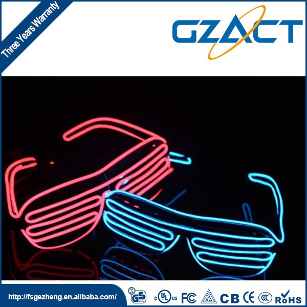 Glow In The Dark light el wire led shutter shades glasses